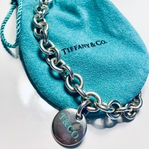 T&CO. Sterling Silver Tag Charm Necklace